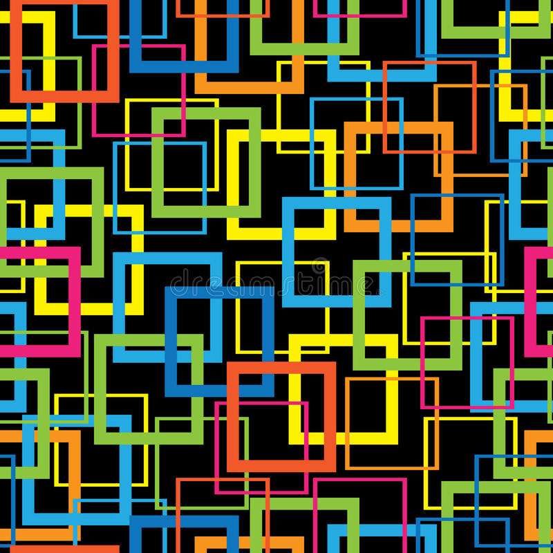 Multicolor mozaika bezszwowy wzór ilustracja wektor