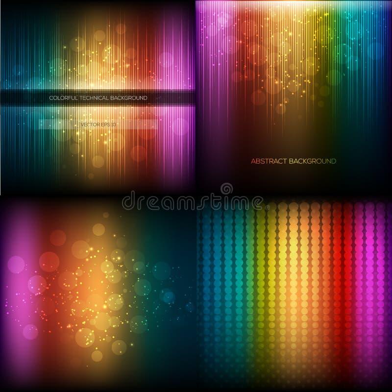Multicolor musical equalizer set stock illustration