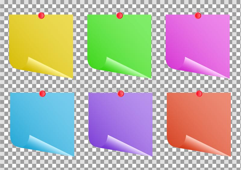 Color Notes Background 01 Vector Free Download: Multicolor Notes On Transparent Background Post It