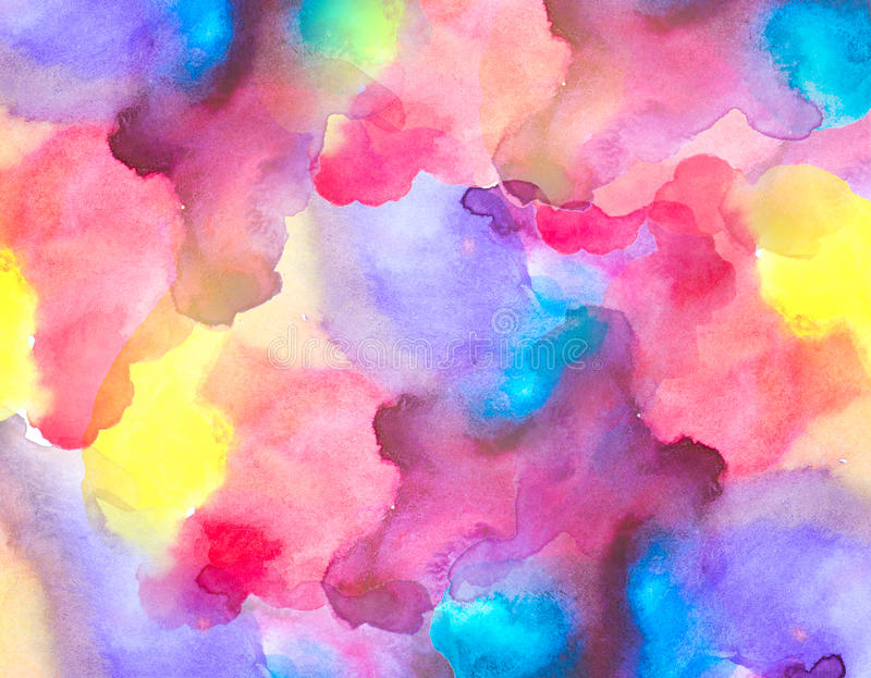 Multicolor painted of watercolor background.  stock image