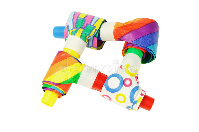 Download Multicolor party blowers stock image. Image of background - 22255821