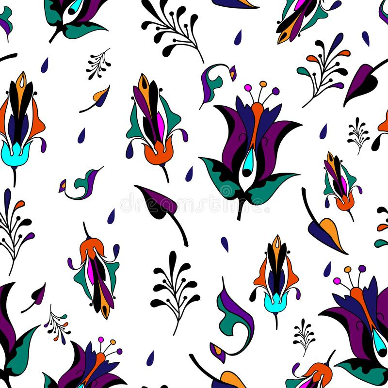 Multicolor pattern on white background stock photos