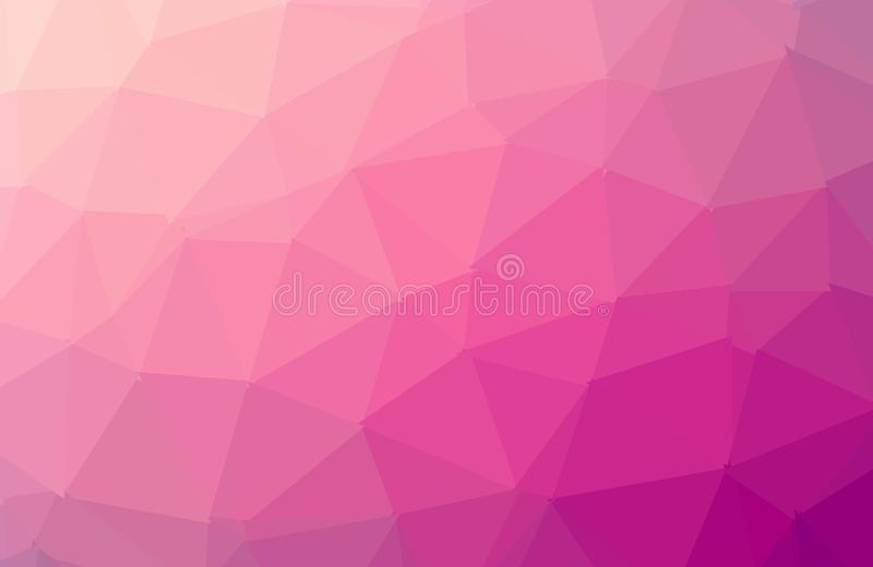 Multicolor pink, yellow, orange geometric rumpled triangular low poly style gradient illustration graphic background. Vector vector illustration