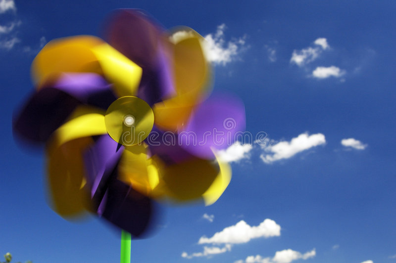 Multicolor Pinwheel royalty free stock image