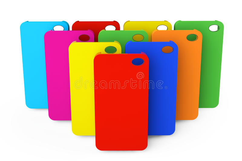 Download MultiColor Plastic Mobile Phone Cases Stock Photo - Image of cell, modern: 33311612
