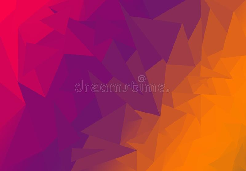 Multicolor polygonal illustration, which consist of triangles. Geometric background in Origami style with gradient. Triangular. Design for your business royalty free stock images