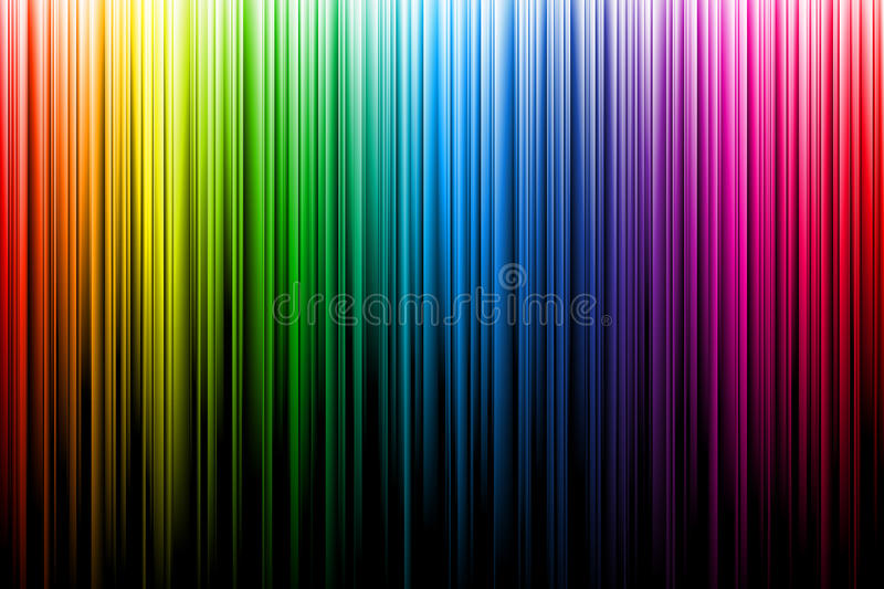 Multicolor rainbow rays. Glowing color spectrum vector illustration. can be used on transparent background royalty free illustration