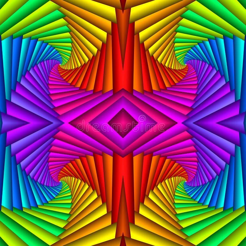 Multicolor Série festive sans pareille Modèle ethnique nuancé Mosaïque géométrique Idéal pour tapisserie, tapis, couverture, illustration de vecteur