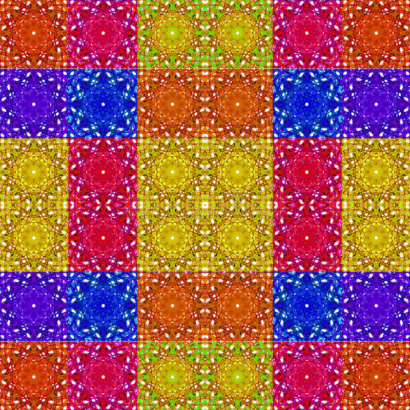 Multicolor Seamless Check Pattern stock illustration