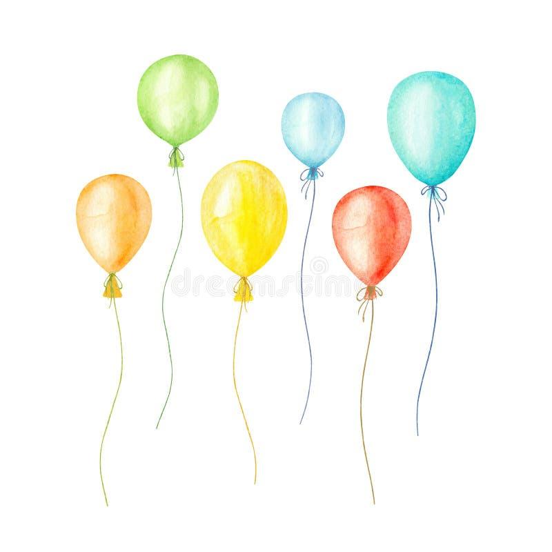 Multicolor serce balony dobre wie?ci to walentynki dni beak dekoracyjnego lataj?cego ilustracyjnego wizerunek sw?j papierowa kawa ilustracja wektor