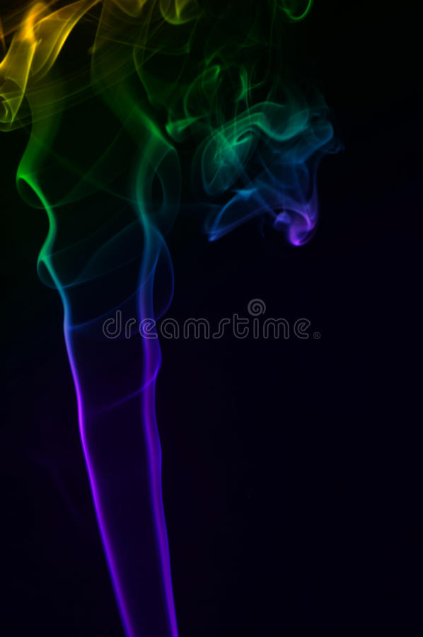 Download Multicolor smoke stock photo. Image of glow, black, isolated - 26621016