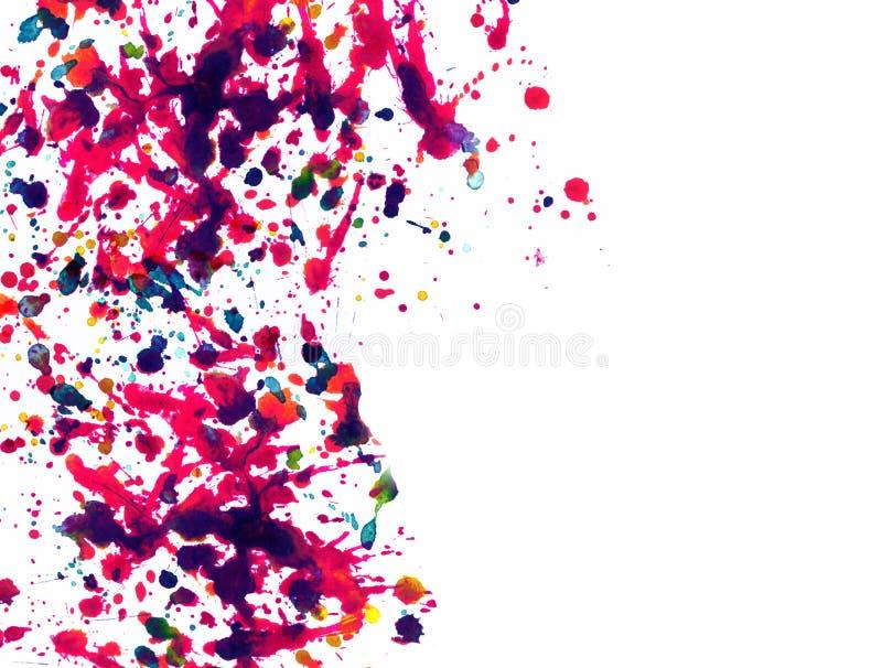 Multicolor splatter. Abstract watercolor with multicolor splatter vector illustration