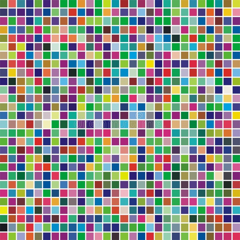 Multicolor square mosaic royalty free illustration