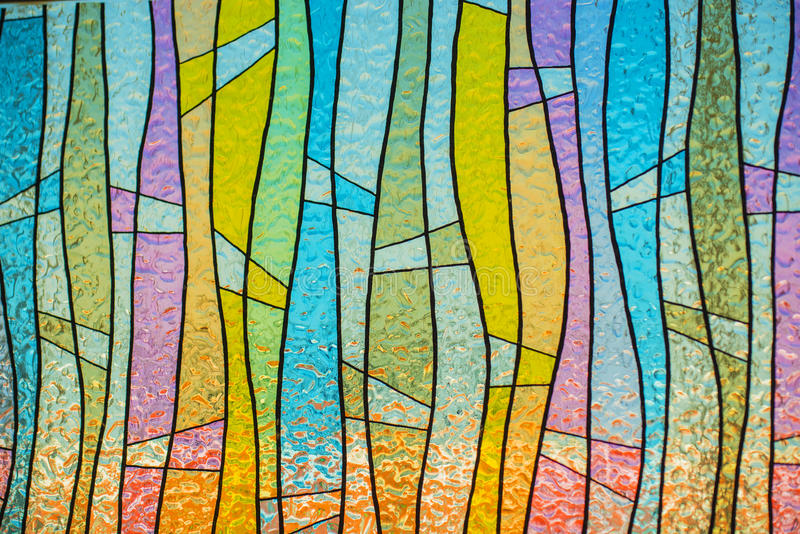 Multicolor stain-glass wallpaper background. Thailand stock image