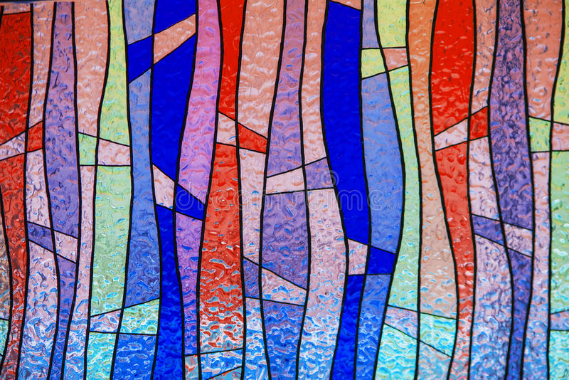 Multicolor stain-glass wallpaper background. Thailand royalty free stock images