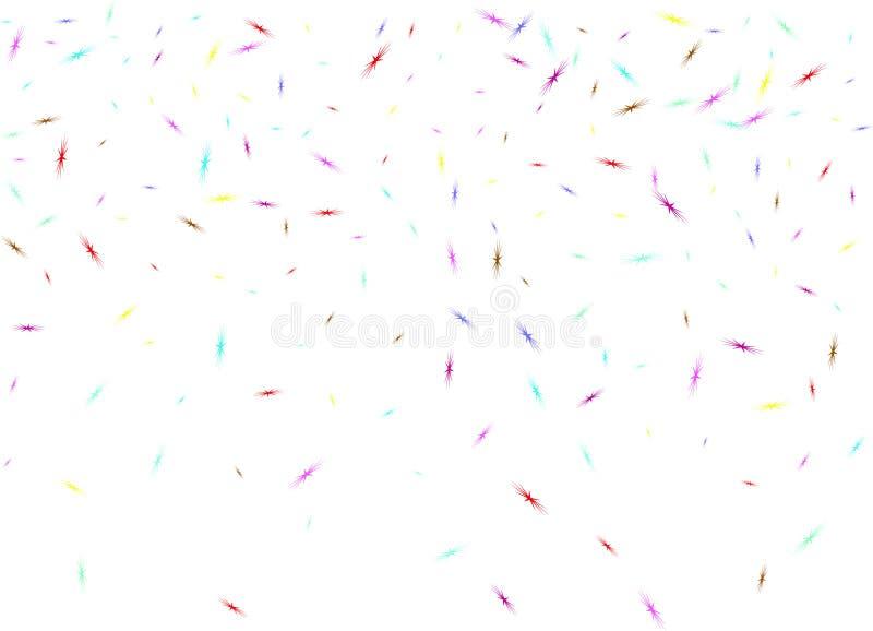 Multicolor star birds shape confetti digital vector illustration