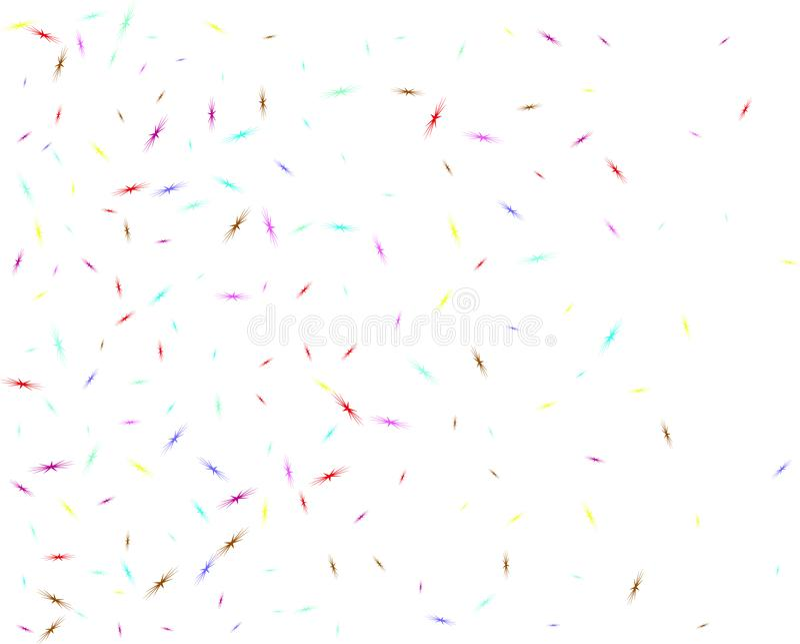 Multicolor star birds shape confetti network. vector illustration