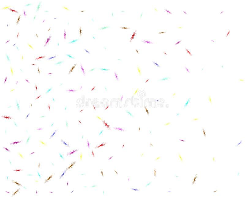 Multicolor star birds shape confetti network vector illustration
