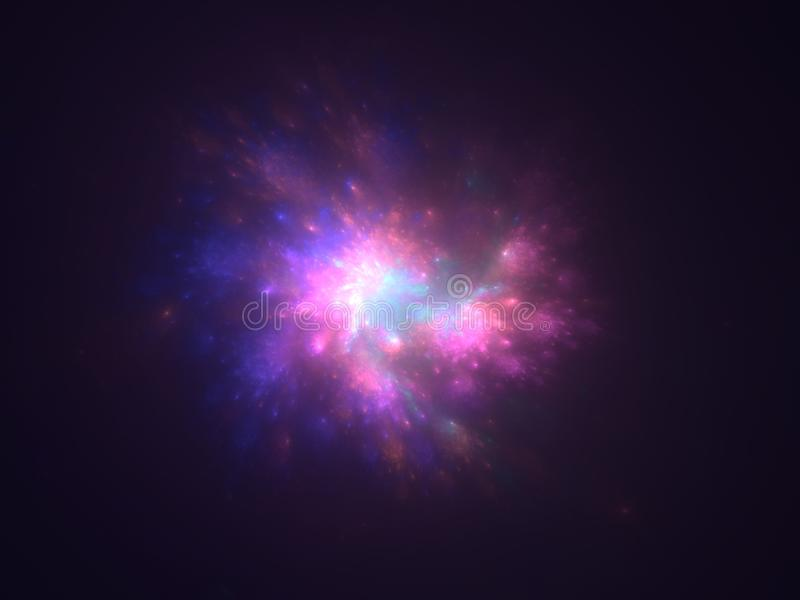 Multicolor star flash abstract background royalty free illustration