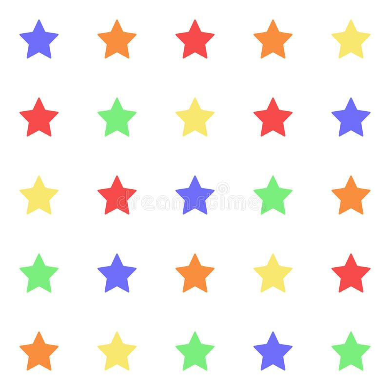 Multicolor star template seamless pattern. Cute kids star seamless pattern. Seamless patter with stars. Star background. Babies vector illustration
