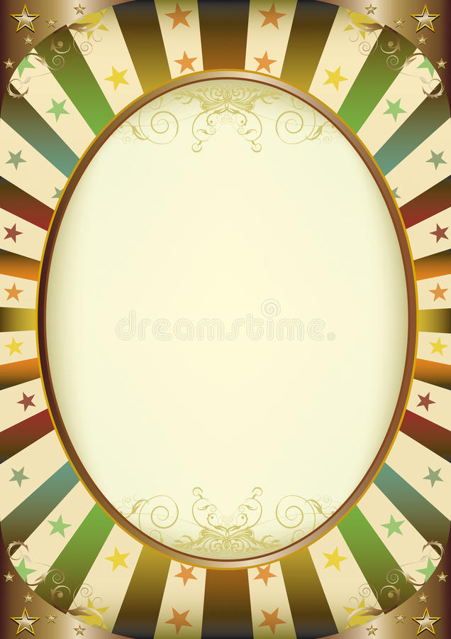 Multicolor Sunbeams Frame Poster Royalty Free Stock Images