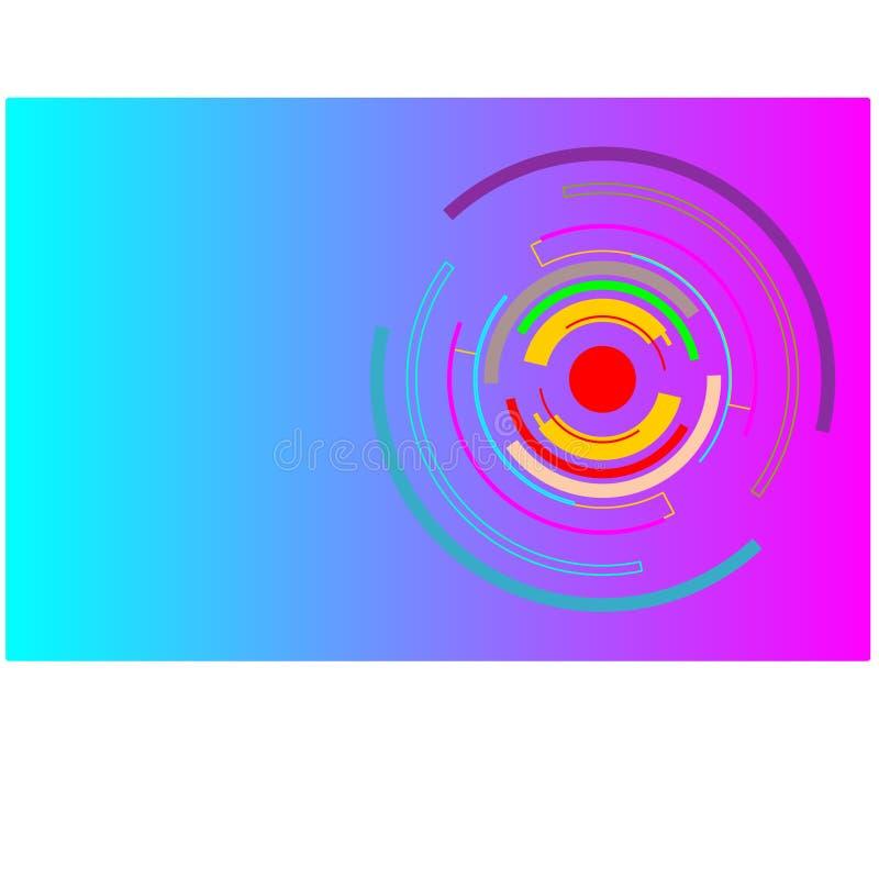 Multicolor technologia okrąg dla tło tapety w wektorze ilustracja wektor