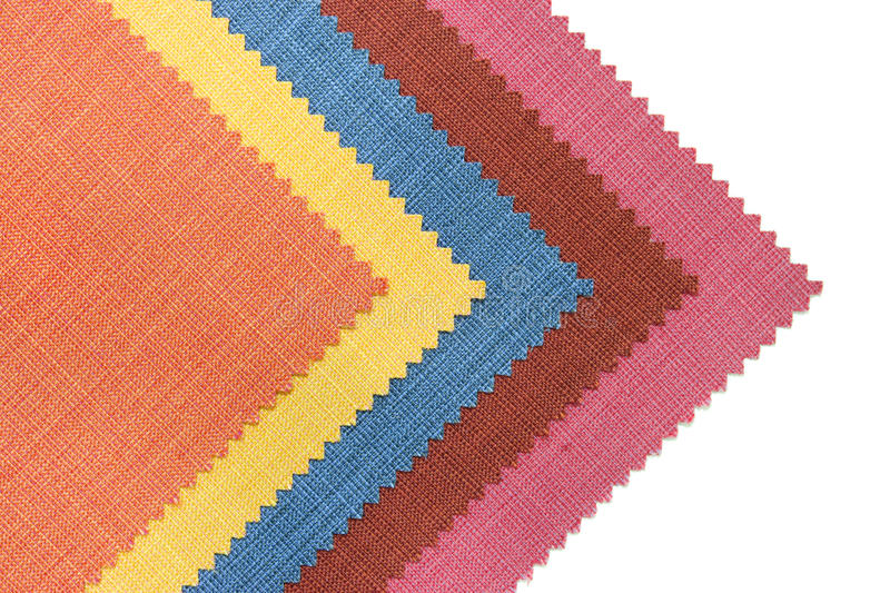 Download Multicolor Tone Of Fabric Sample On White Stock Photo - Image: 21673878