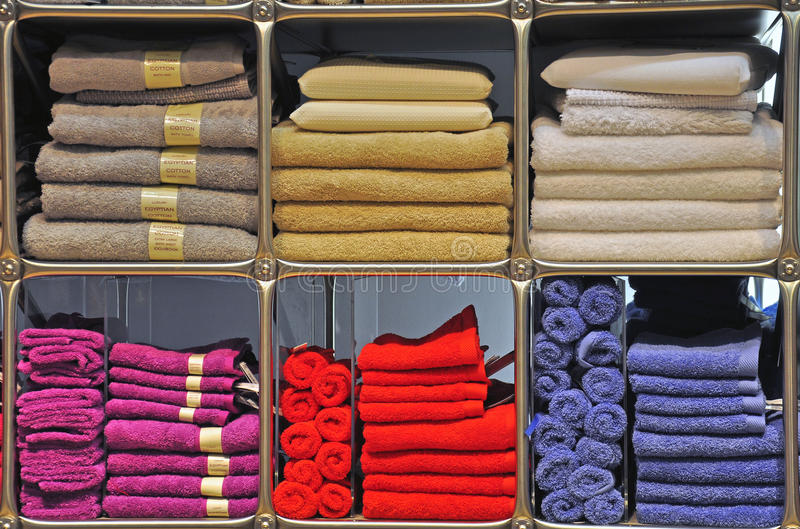 Multicolor Towels Stock Image