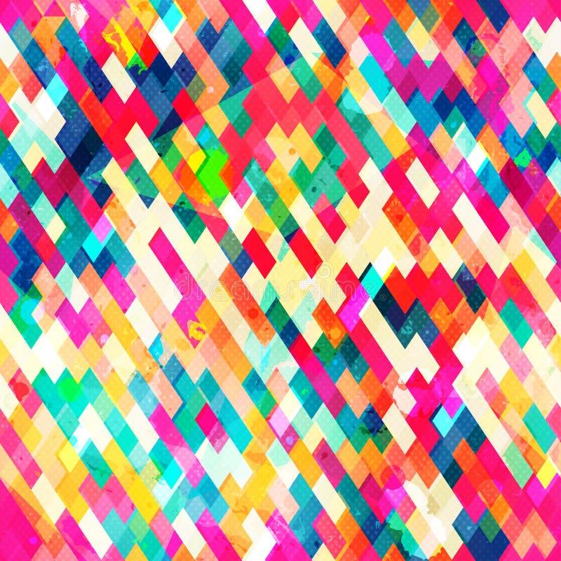 Multicolor trójboka bezszwowy wzór royalty ilustracja