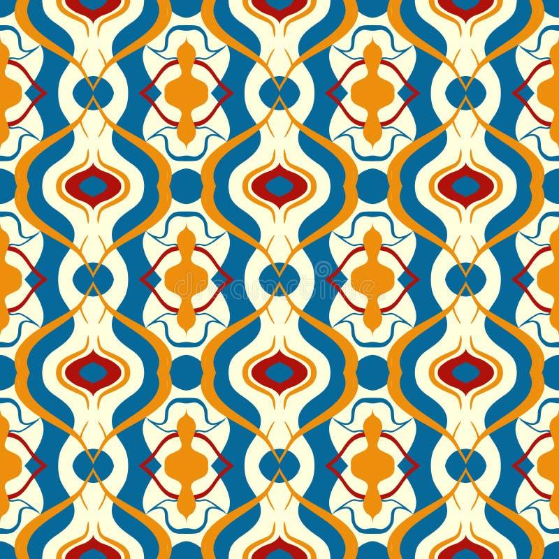 Multicolor Vector Pattern With Arabic Motif. Stock Vector