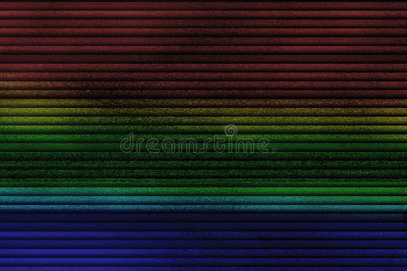 Multicolor vhs glitch noise background realistic flickering, analog vintage TV signal with bad interference, static noise. Background, overlay ready stock image