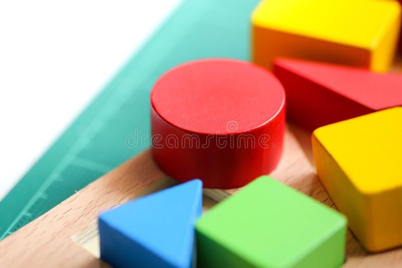 Multicolor wooden bricks,Toys blocks, Education concept. royalty free stock photos