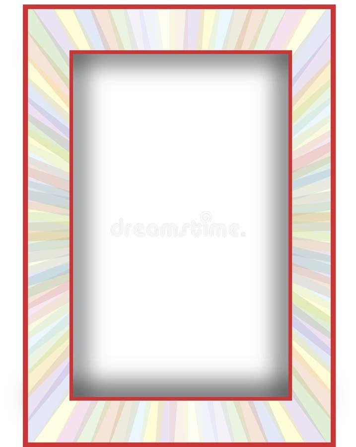 Multicolore avec le cadre rouge illustration libre de droits