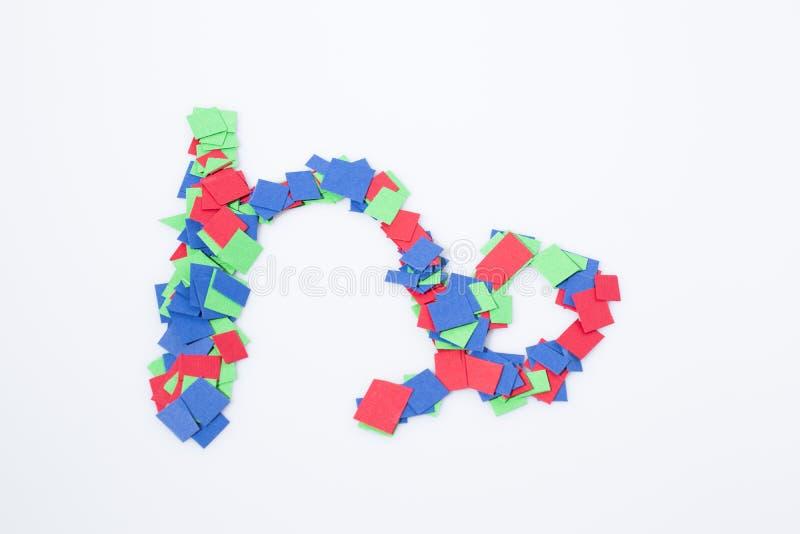 Multicolore de Capricorne de symbole de zodiaque d'isolement dans un backgroun blanc images stock