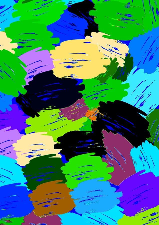 Multicolore luminoso spruzza la progettazione royalty illustrazione gratis