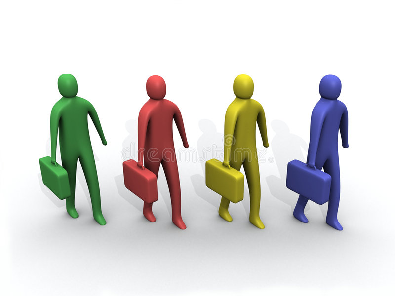 Multicolored 3d people. vector illustration