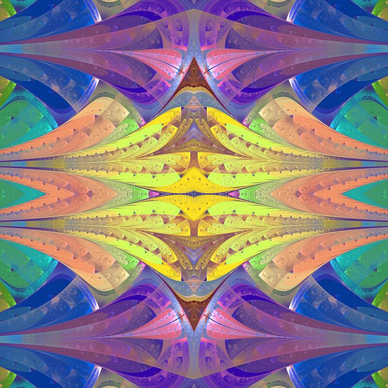 Multicolored Abstract Pattern In Stained Glass Window