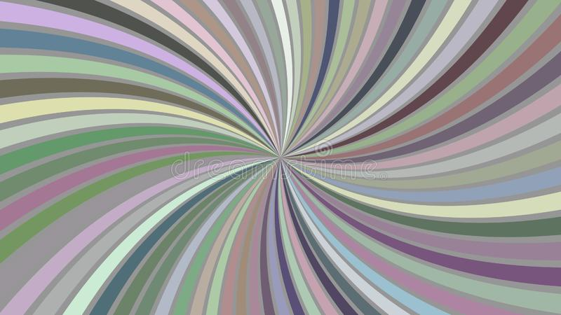 Multicolored abstract psychedelic spiral stripe background - vector curved burst design. Multicolored abstract psychedelic spiral stripe background - vector royalty free illustration