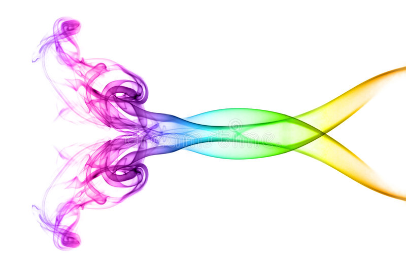 Multicolored abstract smoke vector illustration