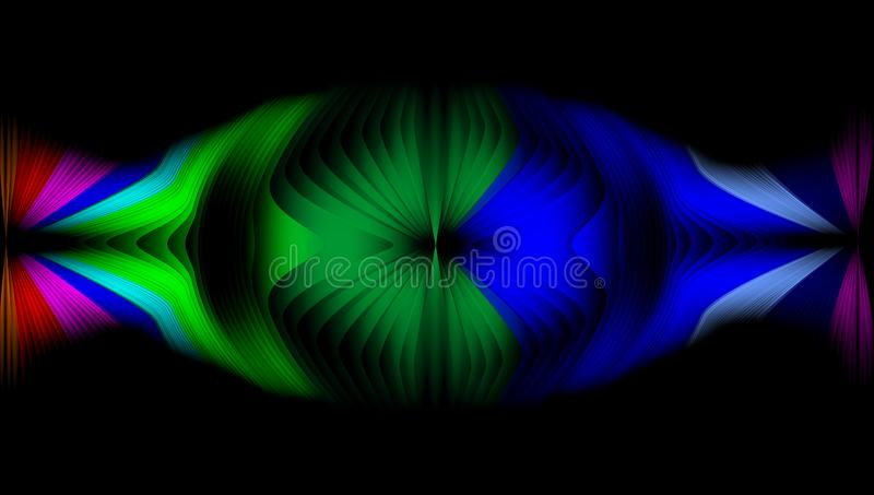 Multicolored abstract vector shaded wavy background wallpaper. vivid color vector illustration. royalty free stock photos
