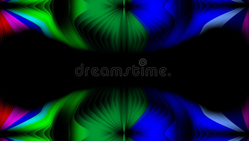 Multicolored abstract vector shaded wavy background wallpaper. vivid color vector illustration. royalty free stock photography