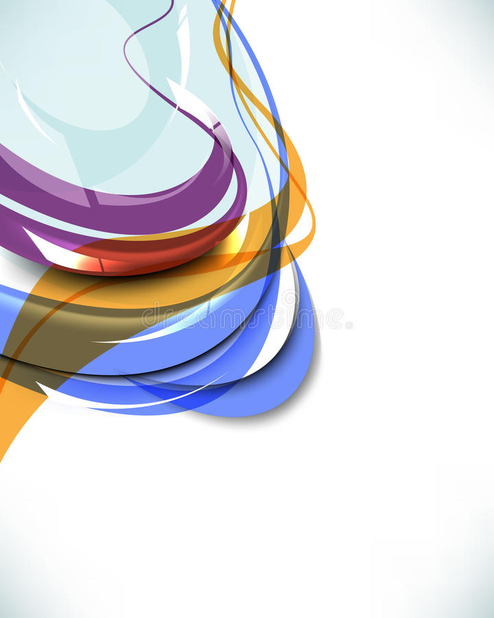 Multicolored Abstract Wave Template Background Royalty Free Stock Images