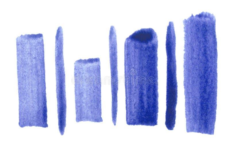 Multicolored Abstracte Achtergrond De hand van de illustratiewaterverf het schilderen Textuur voor behang stock illustratie