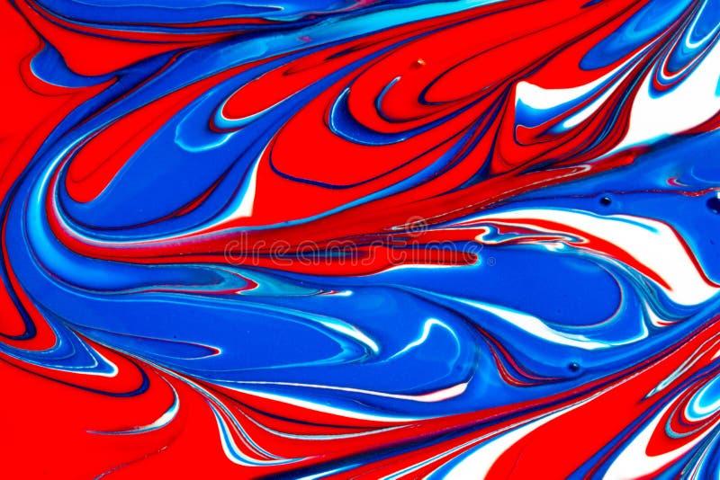 Multicolored abstracte achtergrond van verfwervelingen royalty-vrije illustratie