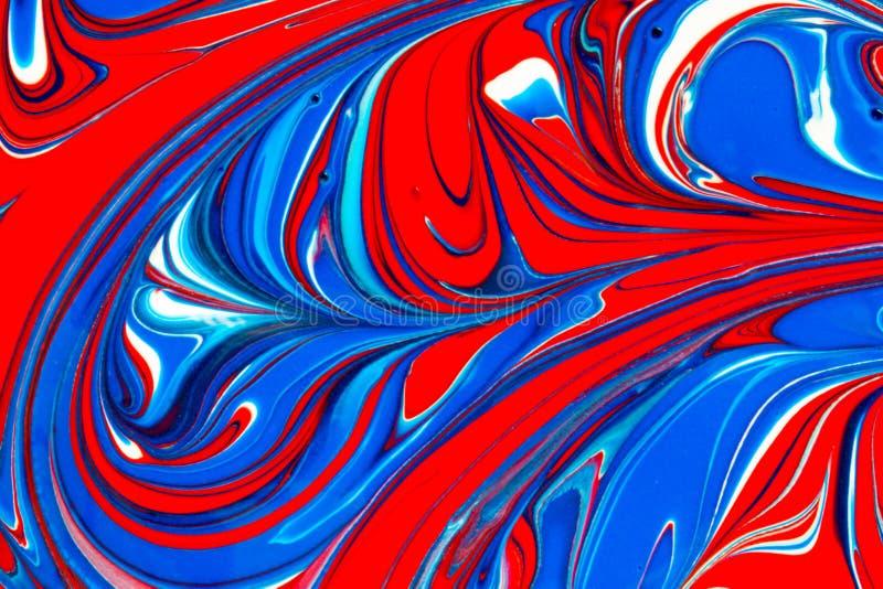 Multicolored abstracte achtergrond van verfwervelingen vector illustratie