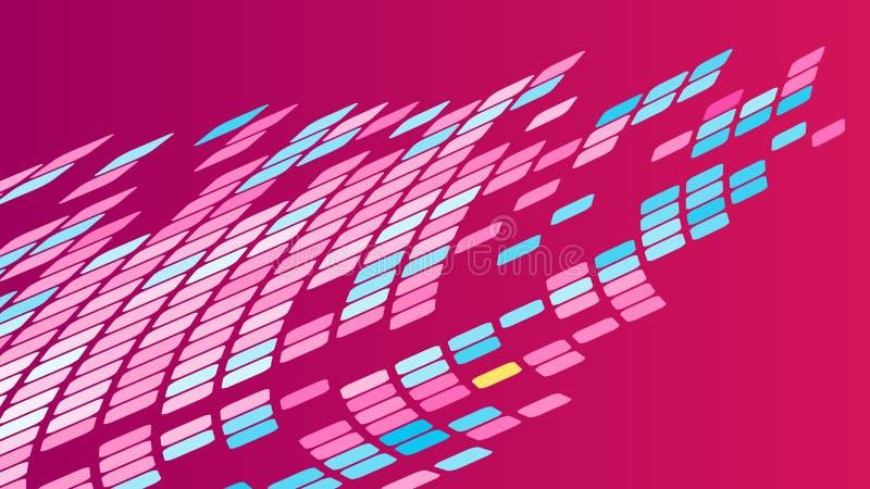 Multicolored abstracte achtergrond van violette roze vierkanten, ruiten, rechthoekentegels, mozaïek met naden royalty-vrije illustratie