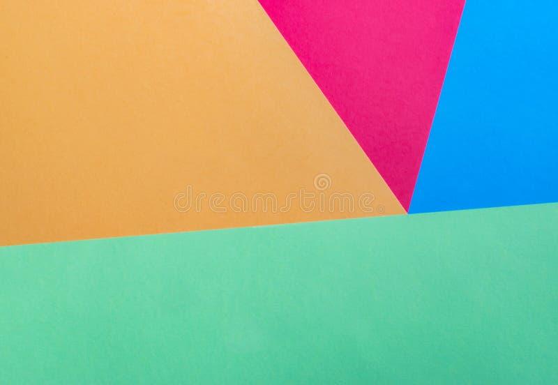 Multicolored abstracte achtergrondtextuur, geometrische vormen stock afbeelding
