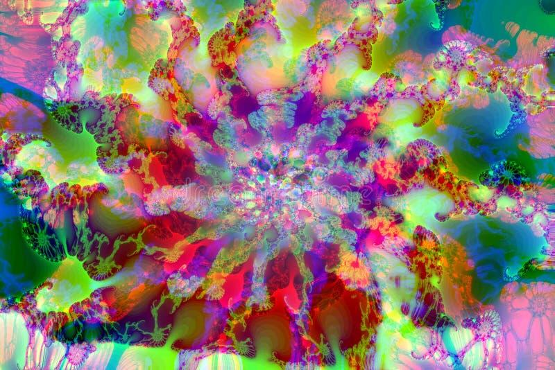 Multicolored abstracte fractal stock afbeeldingen