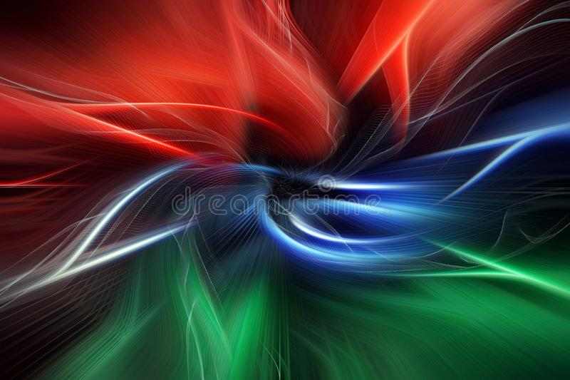 Multicolored abstraction on black background, bright splash on dark, festive backdrop royalty free illustration