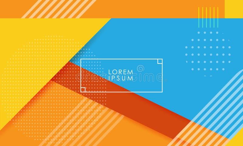 Multicolored achtergrond met abstracte punten en lijnen stock illustratie